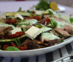 Greek Lamb Salad with Tzatziki Dressing