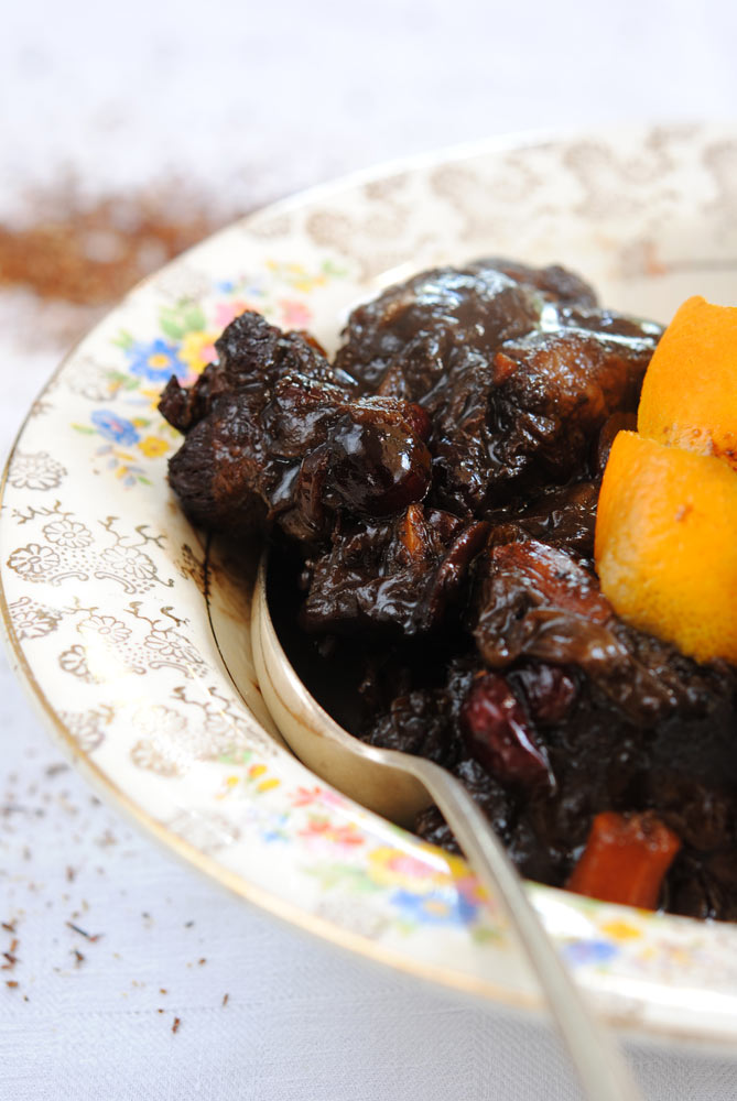 Oxtail Cooked in a Chocolate and Chai Tea Sauce