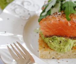 Hot-smoked Norwegian Salmon and Avo Sandwich