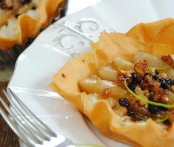 Pear and Ricotta Phyllo Tarts