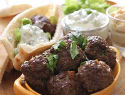 Greek-style Meatballs with Cacik
