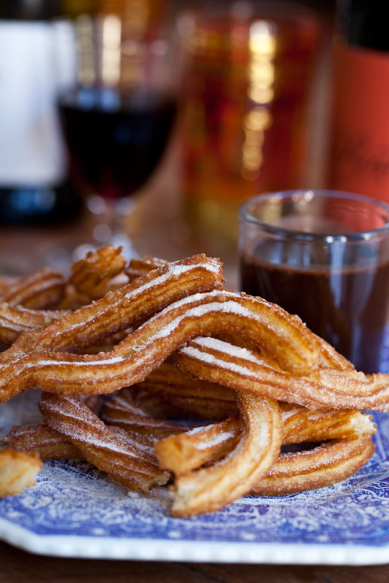 Churros with a Shot of Hot Chocolate