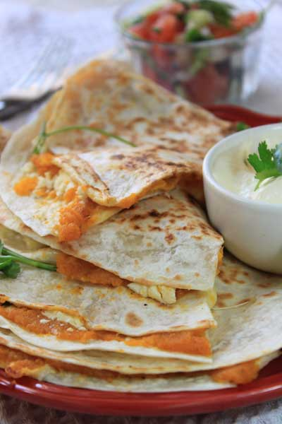 Mexican Food - Butternut and Feta Quesadilla