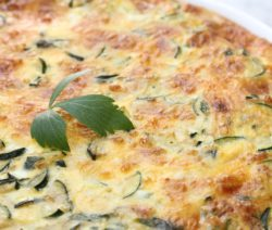 Courgette/Zucchini and Lovage Tart