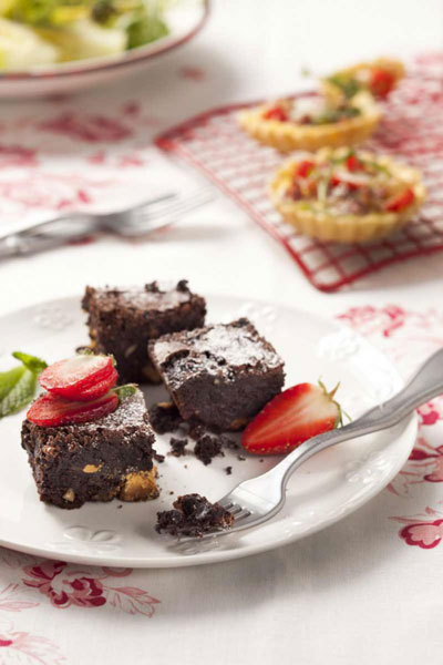 recipes with chocolate - Double Chocolate & Orange Brownies
