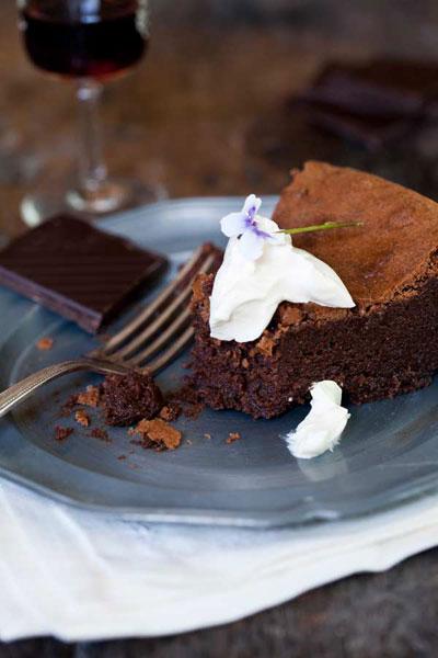 Easter chocolate decadent flourless chocolate tart