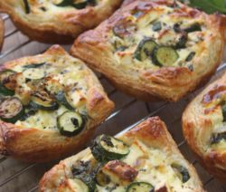 Courgette, Mint and Feta Tarts