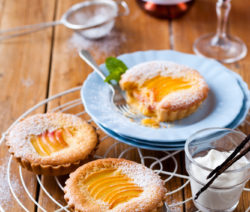 Peach and Frangipane Tart with Chantilly Cream