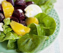 Roasted Beetroot, Orange and Chevin Salad