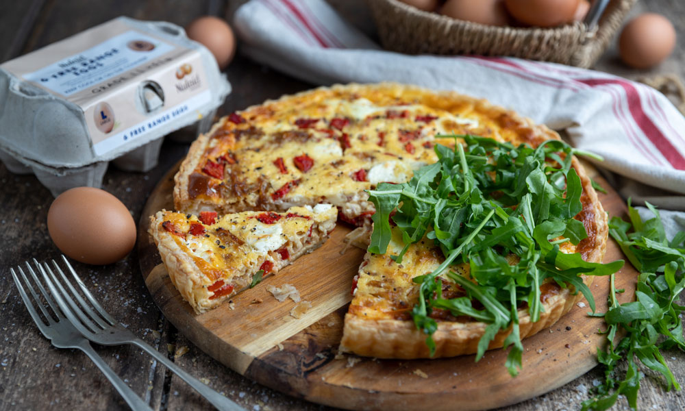 Nulaid Roasted Red Pepper and Goats Cheese Tart