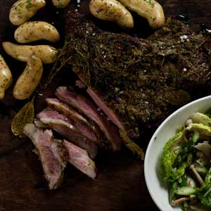 Barbeque Butterflied Lamb