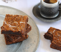 Decadent chocolate chilli brownies