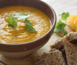 Orange and Coriander Infused Carrot Soup