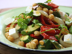 Morrocan Chickpea and Roasted Vegetable Salad