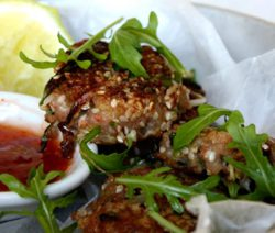 Thai Prawn Cakes with Sweet Chilli Dipping Sauce