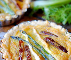 Fennel, Butternut, Date and Asparagus Tartlets