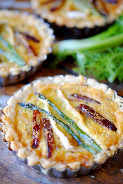 Fennel, Butternut, Date and Asparagus Tartlets Recipe