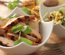 Spicy Grilled Chicken with Charred Corn and Avo Salsa