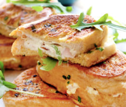 Creamy Cheese and Ham French Toast