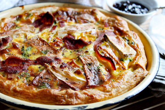 Bacon, Brie and Onion Marmalade Quiche Recipe | Crush Magazine