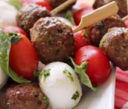Meatball Kebabs – Caprese Style