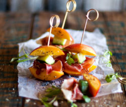Nectarine and Proscuitto Sticks