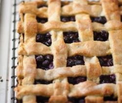 Blueberry Lattice Tart