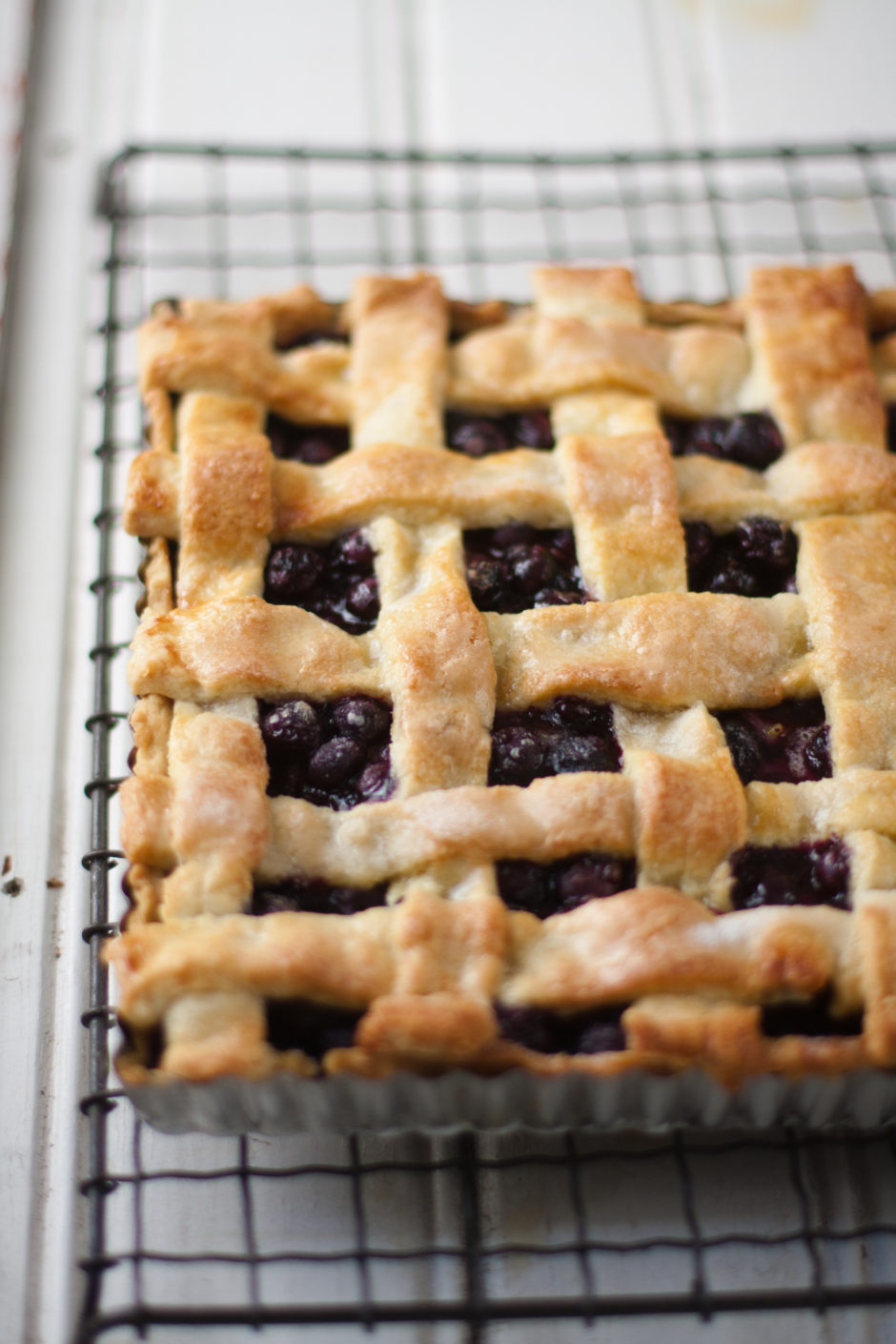 Blueberry Lattice Tart
