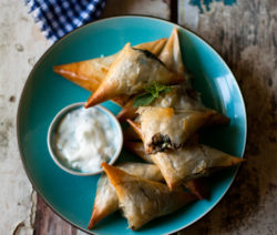 Spinach, Feta, Olive and Pine Nut Spanakopitas
