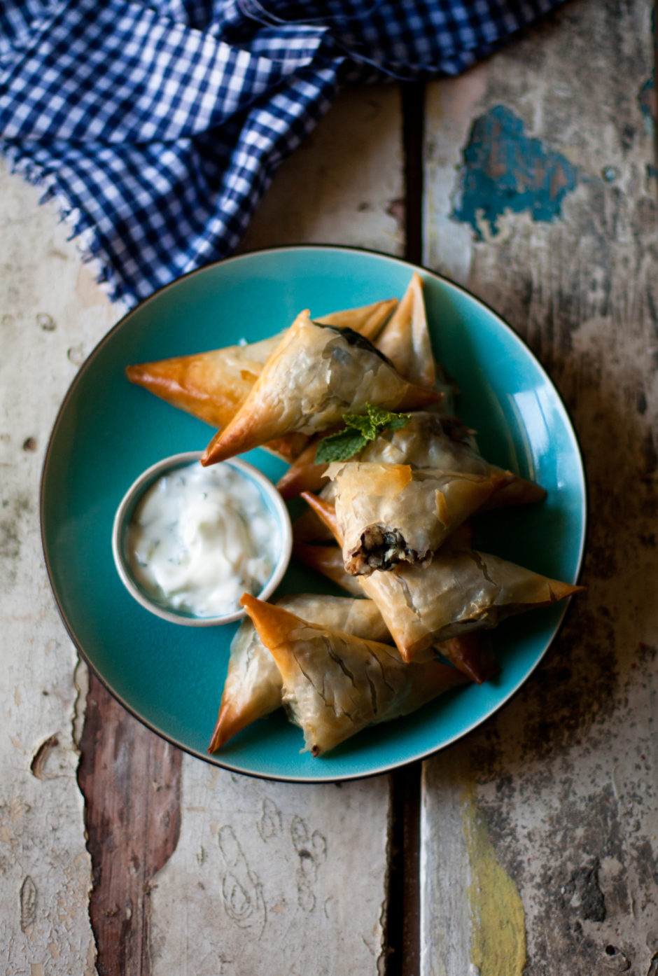 Spinach, Feta, Olive & Pine Nut Spanakopitas. The perfect savoury pastry!