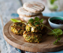 Indian-spiced Chickpea and Courgette Burgers