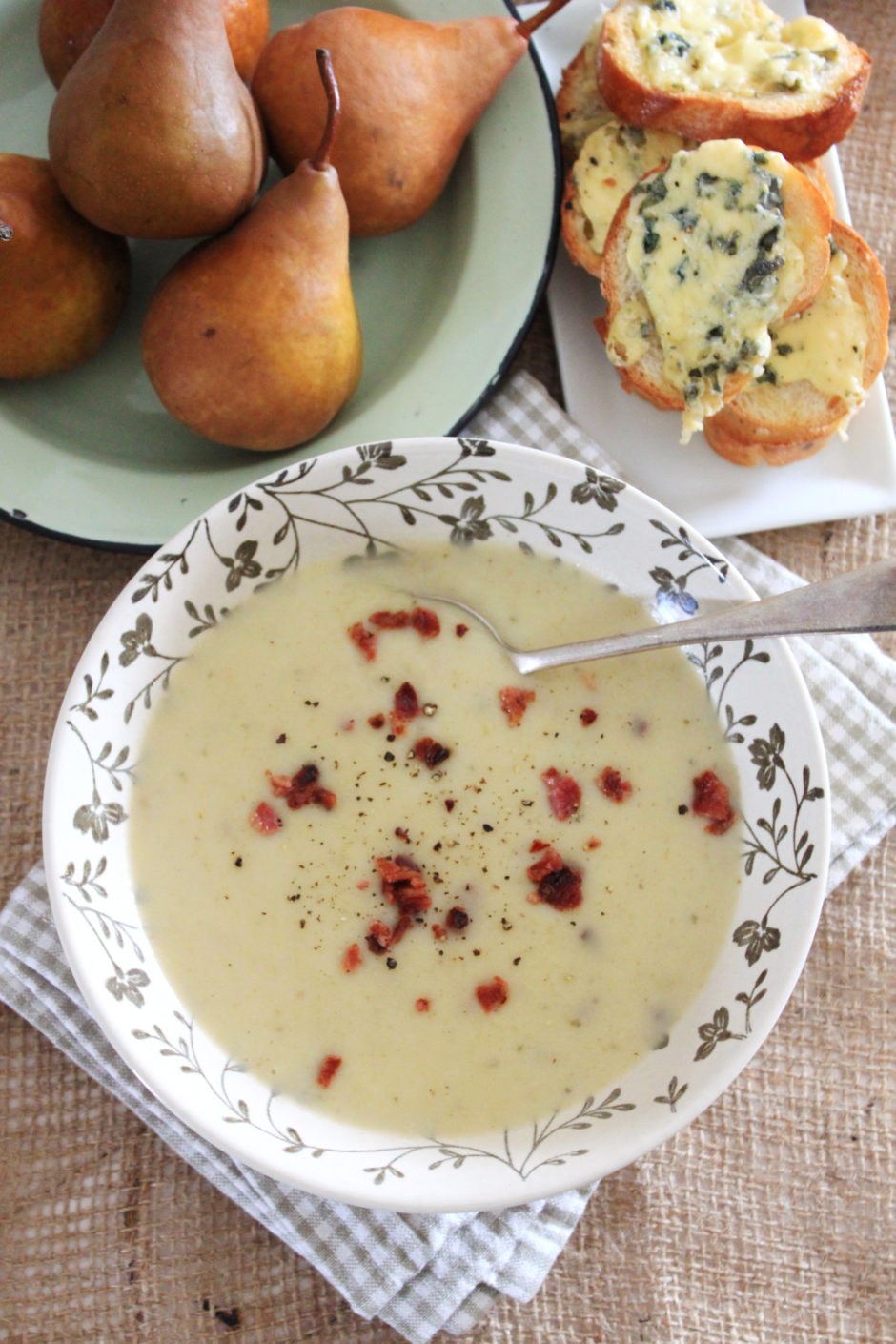 Pear and Potato Soup with Bacon Bits | Crush Magazine