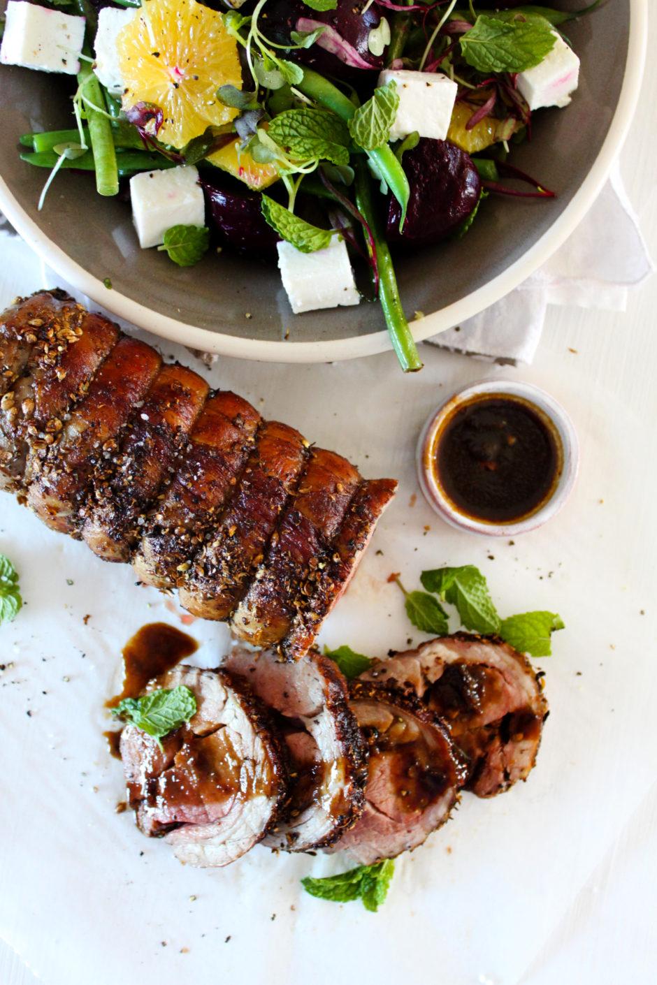 Succulent Lamb Noisette with Salad Recipe
