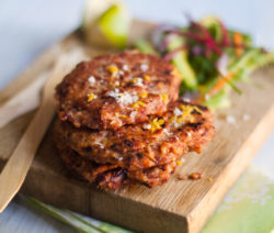 Kidney Bean and Couscous Cakes