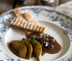 Seared Fresh Duck Liver with Pear and Port Sauce