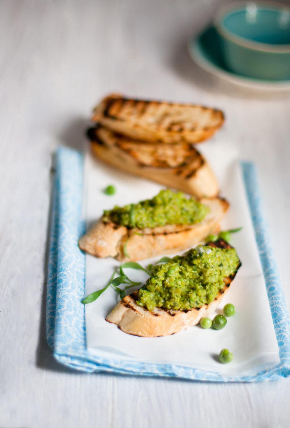 Minted Pea Crostini Recipe