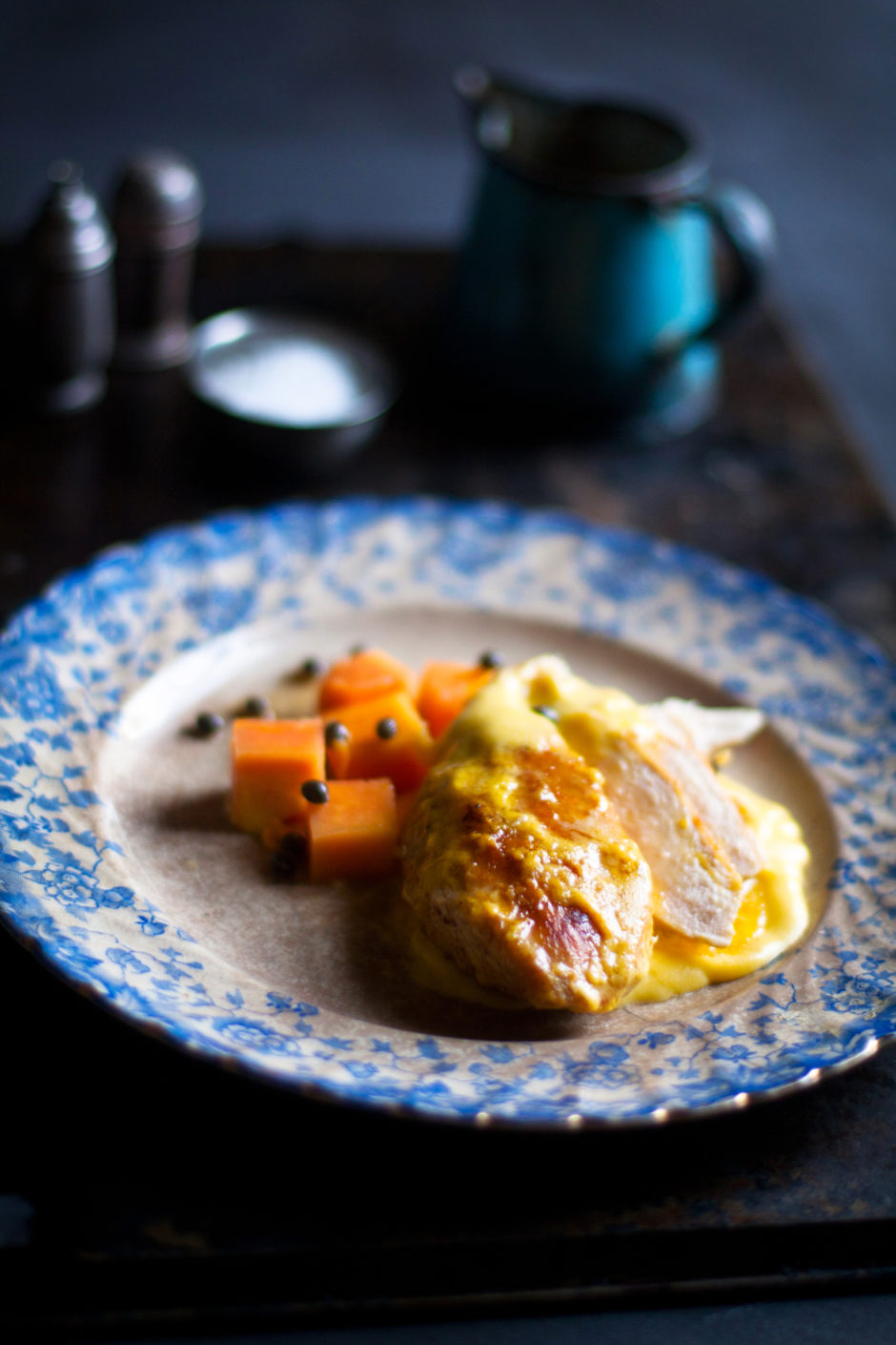 Chicken Breast with Lemon Butter and Papaya Recipe