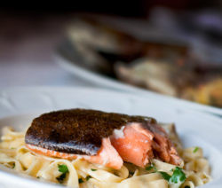 Family-style Whole Baked Trout with Fennel & Lemon Served with Fettuccine Limone Recipe