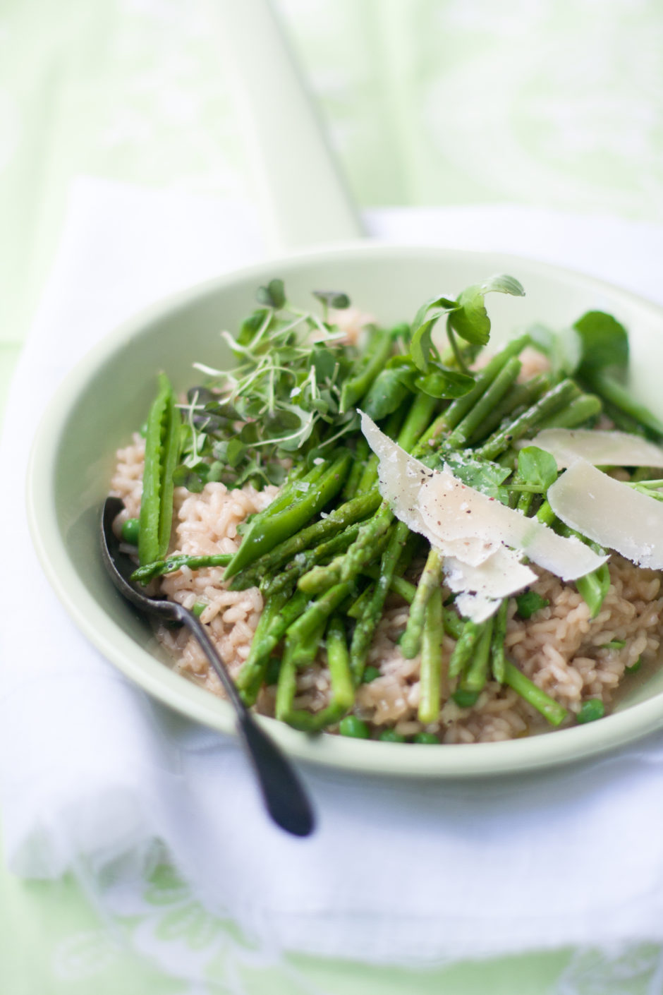 Asparagus & Pea Risotto Recipe