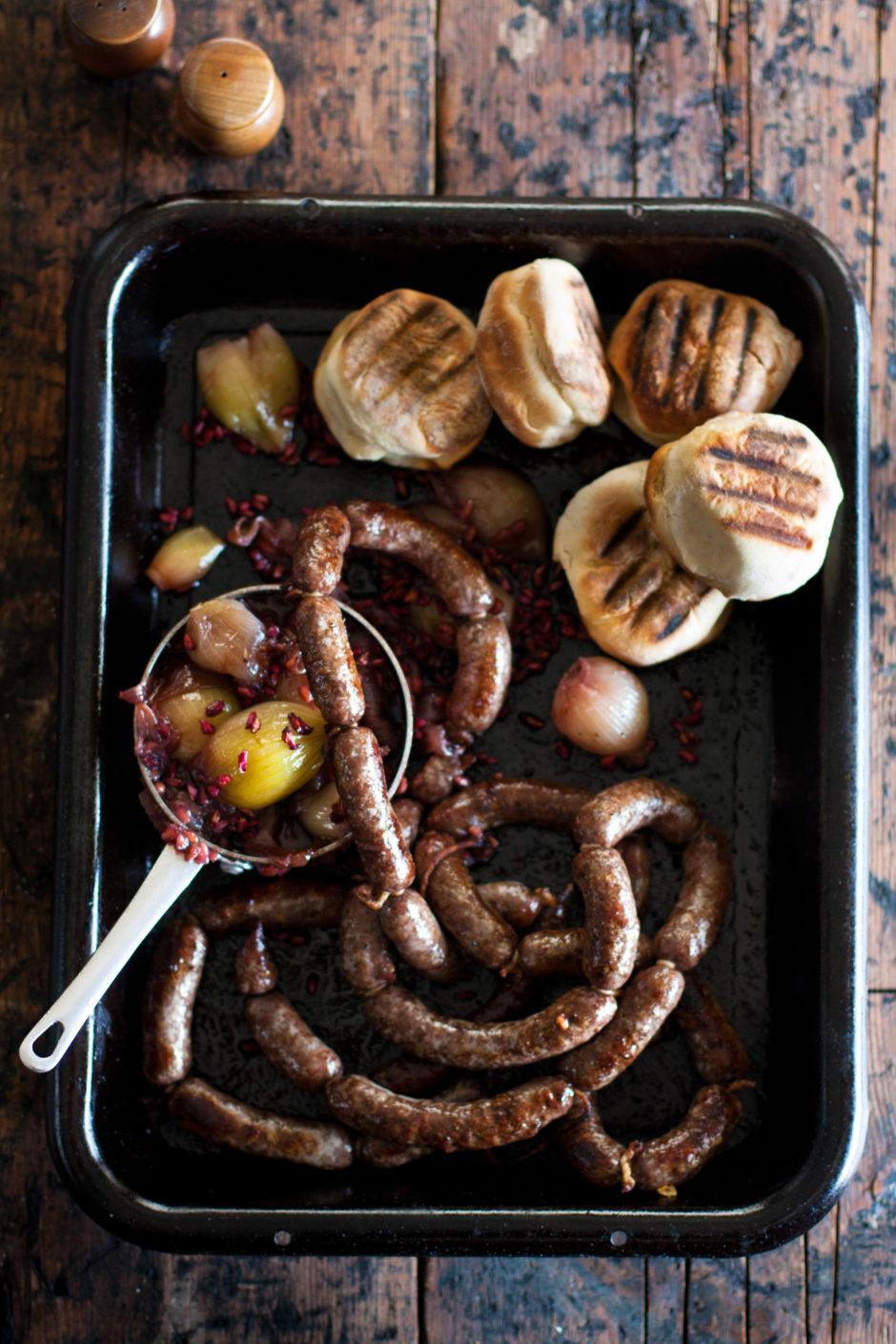 Venison Sausage Tipsy Onions Recipe