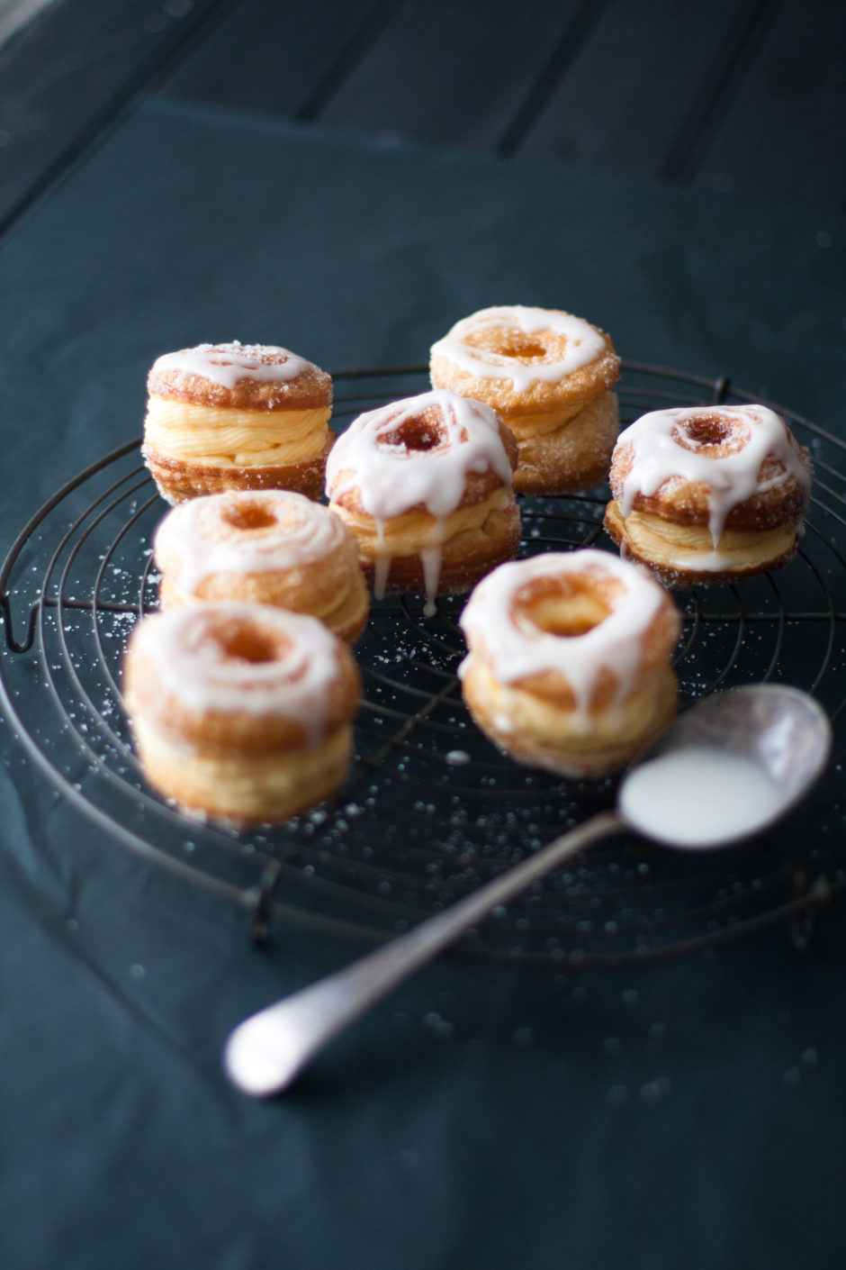 Cheats 'Cronuts' with Orange-infused Custard and Lemon Glaze
