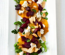 Roast Beetroot and Orange Salad with Goat's Cheese