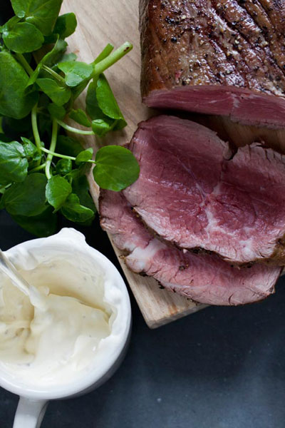Roast Beef, Horseradish Cream and Watercress Sandwich