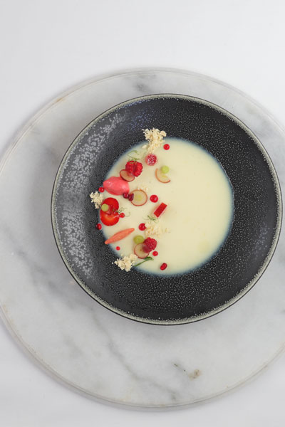 Deconstructed Pannacotta