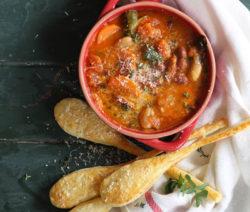 Tomato Sausage Bean Stew