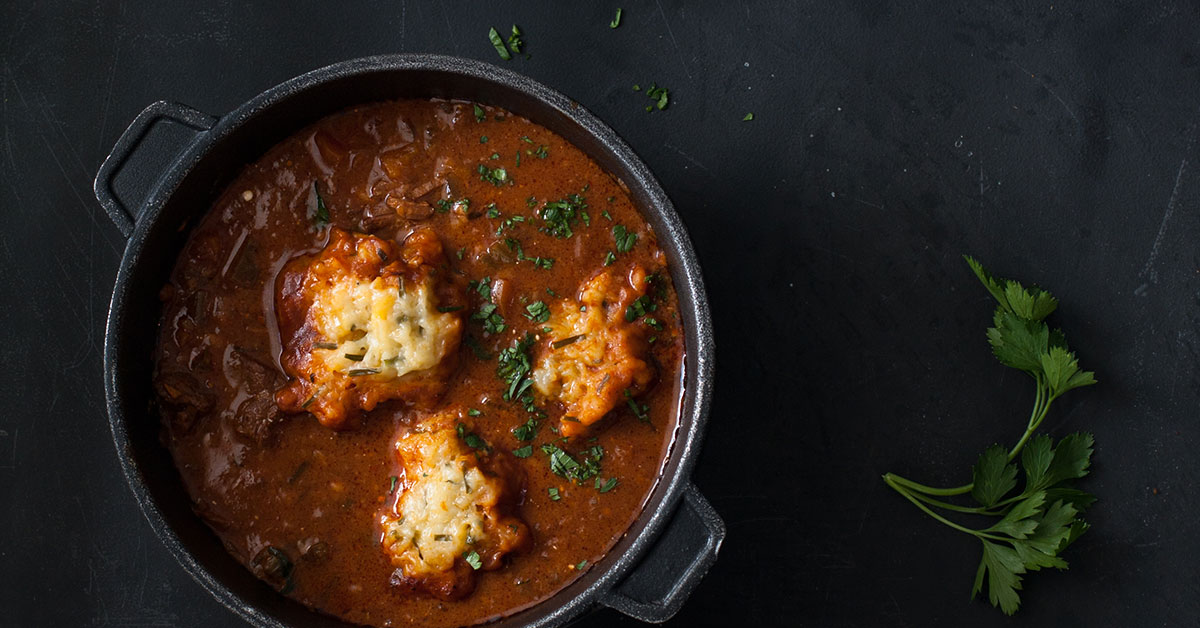 Hungarian Goulash Soup With Dumplings Recipe Crush Magazine