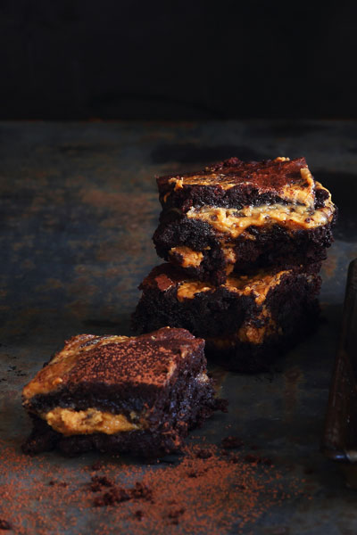 recipes with chocolate - Peanut butter Swirl Chocolate Brownies