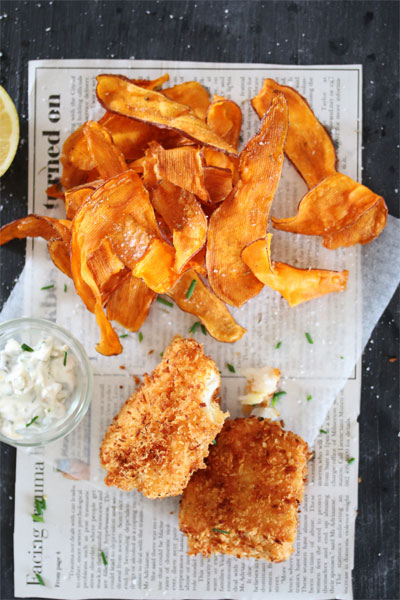 Fish and Crisps with Chunky Tartare Sauce