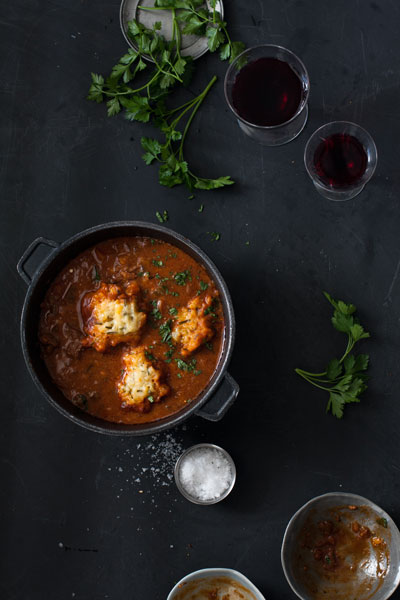 Hungarian Goulash Soup with Homemade Dumplings Recipe