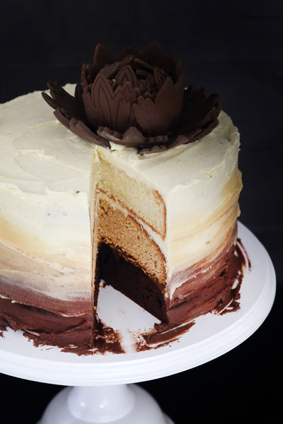 Decadent Triple Layer Ombr 233 Cake Recipe Crush Magazine